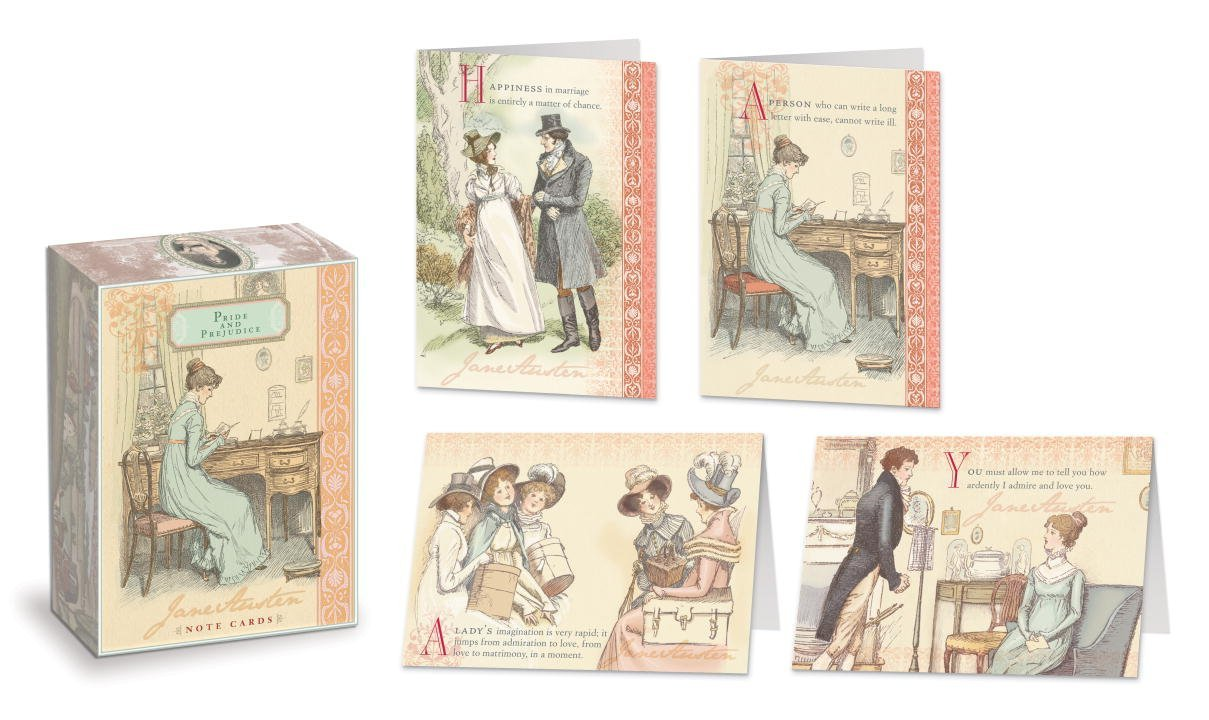 Jane Austen Note Cards: Pride and Prejudice (Box of 16 Cards) by Potter Style image