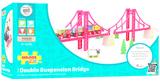 Bigjigs Rail Accessories - Double Suspension Bridge