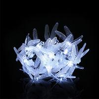 20 LED Solar Dragonfly Fairy String Light - White