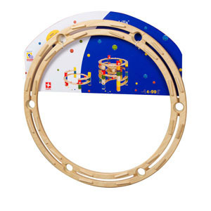 Quadrilla Wood Marble Run Expansion Set - Circle Rail