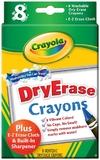 Crayola - 8 Washable Dry Erase Whiteboard Crayons