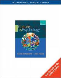 Culture and Psychology by David Matsumoto image