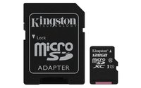 128GB Kingston Canvas Select Micro SD Card + SD Adaptor