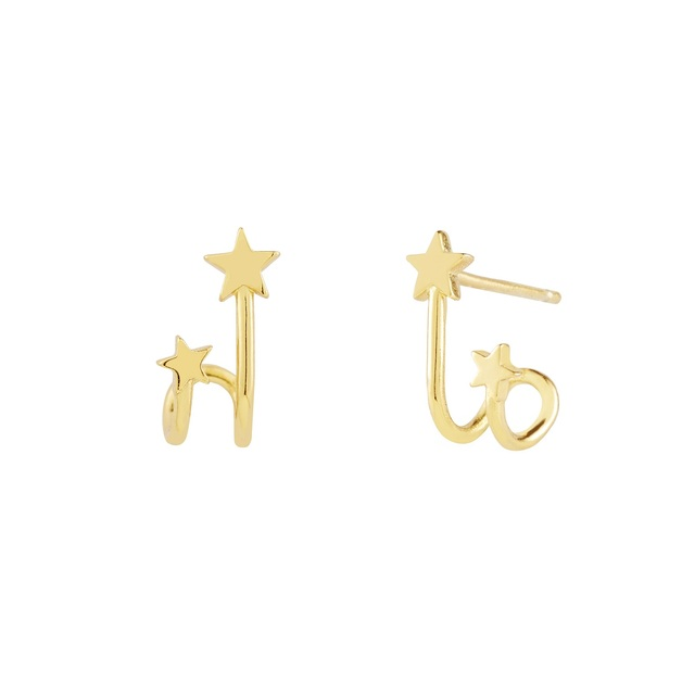 Wanderlust + Co: In The Stars Gold Huggie Earrings