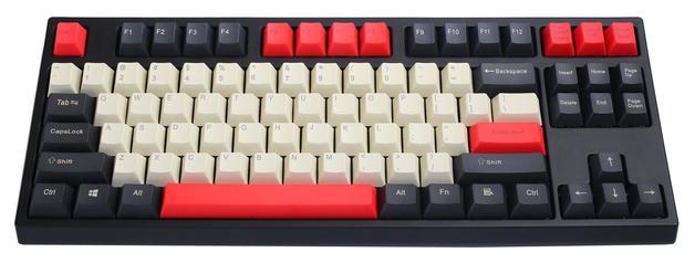 KBParadise VX80 MX Silent Red TKL Mechanical Keyboard Count Red