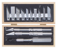 Excel Wooden Box Craftsman Knife Set (13pcs)