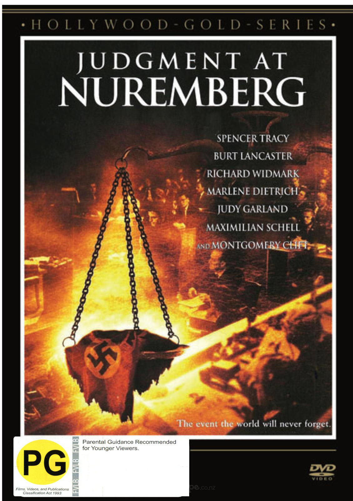 judgment at nuremberg dvd on sale now at mighty ape nz. Black Bedroom Furniture Sets. Home Design Ideas
