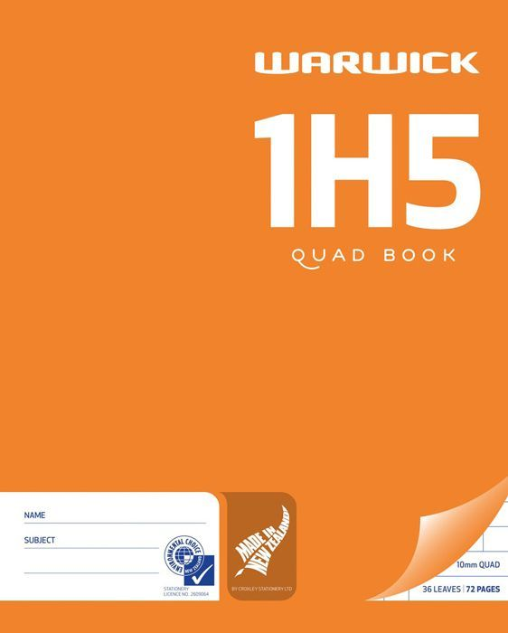 Warwick 1H5 36lf 10mm Quad Exercise Book image