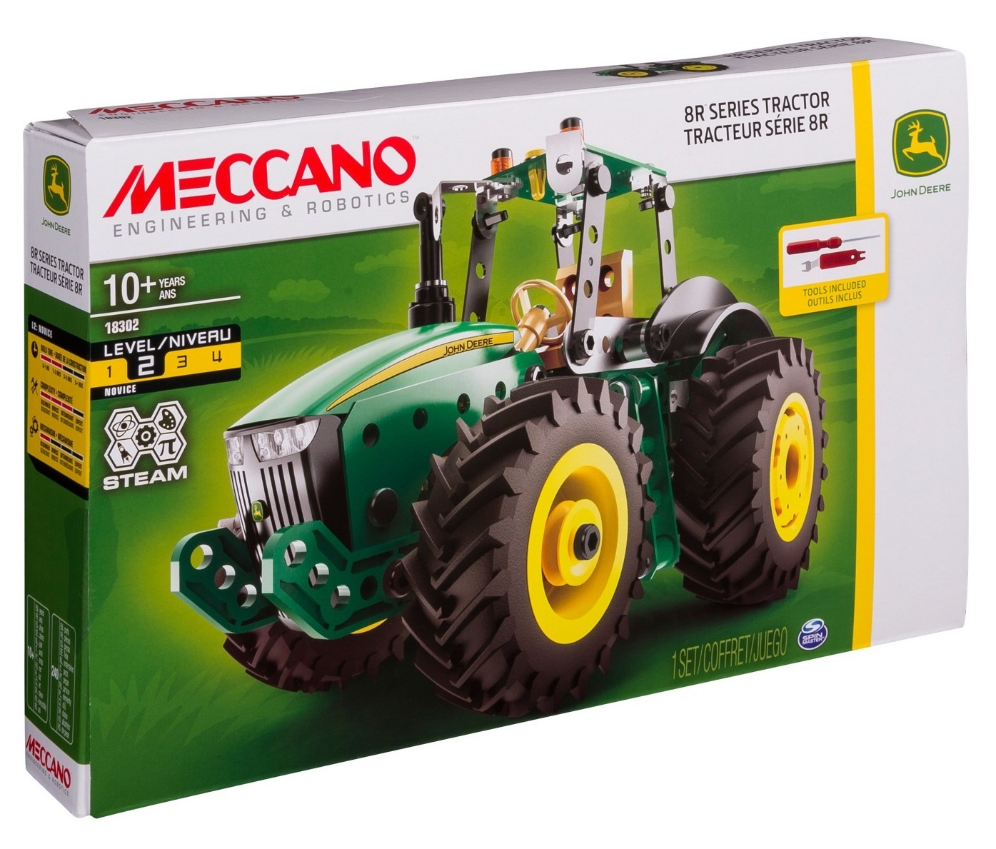 meccano - john deere 8r tractor | toy | at mighty ape australia