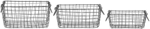 Rectangle Wire Basket - Small (Set of 3)
