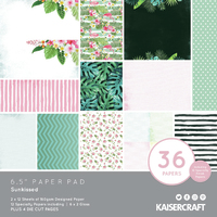 "Kaisercraft: Paper Pad - Sunkissed (6.5"" x 6.5"")"