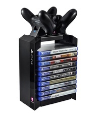 Official Sony PS4 Premium Games Tower & Dual Charger for PS4