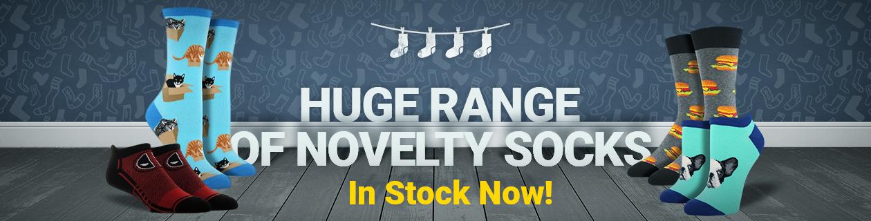 Huge range of Novelty socks in stock now!