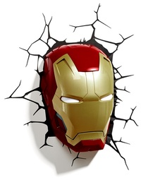 3D Deco Night Light - Iron Man Helmet