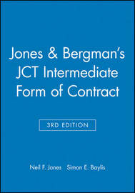 Jones and Bergman's JCT Intermediate Form of Contract by Neil F. Jones image