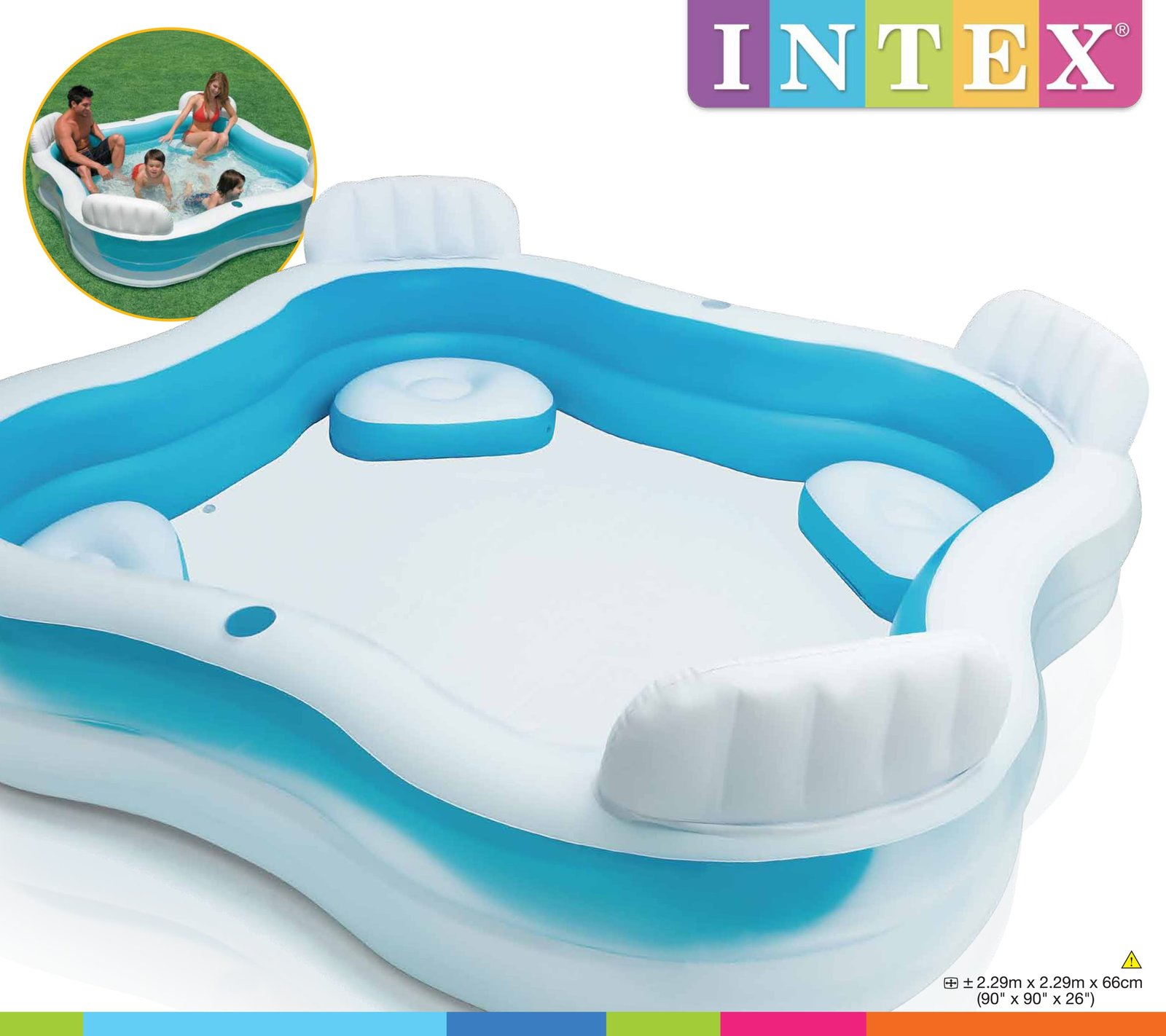 Intex swim center family lounge inflatable pool toy at mighty ape australia Intex inflatable swimming pool