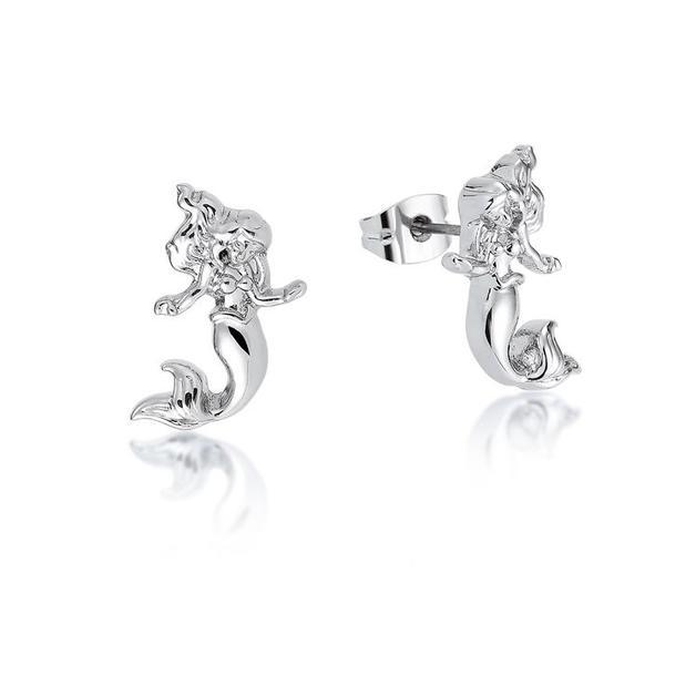 Couture Kingdom: Disney - Princess Ariel Stud Earrings (White Gold)