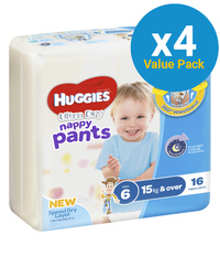 Huggies Ultra Dry Nappy Pants Convenience Value Box - Size 6 Boy 15+ kg (64) image