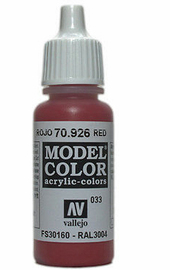 Vallejo Model Colour Red 17ml
