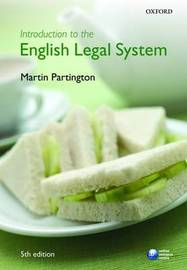 Introduction to the English Legal System by Martin Partington image