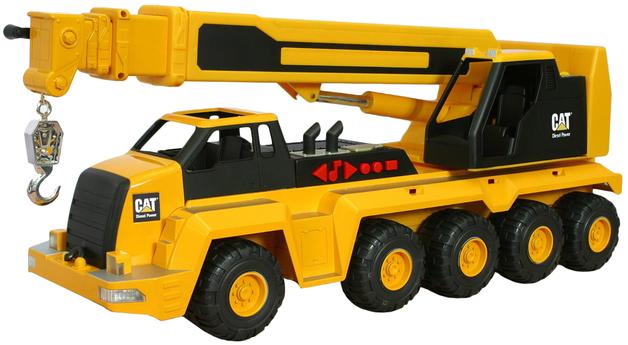 CAT: Massive Machine 10-Wheel Crane