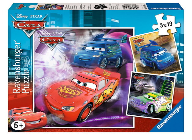 Ravensburger 3x49 Piece Jigsaw Puzzles - Disney Cars On The Racetrack