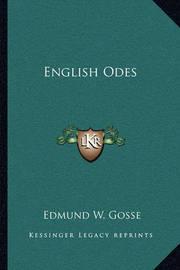 English Odes by Edmund Gosse