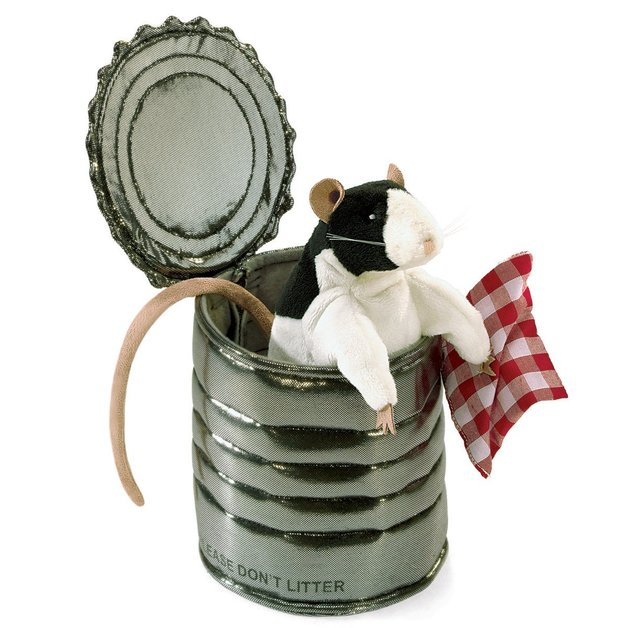 Folkmanis Hand Puppet - Rat In Tin Can
