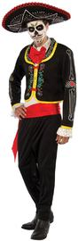 Day of the Dead Senor Costume (Size Standard)