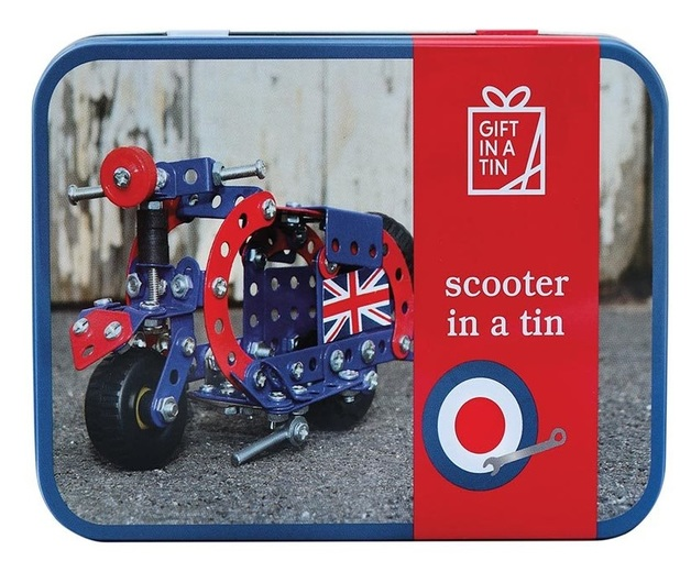 Apples To Pears: Scooter in a Tin - Metal Construction Kit
