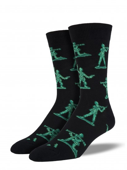 Socksmith: Men's Army Men Crew Socks -Black