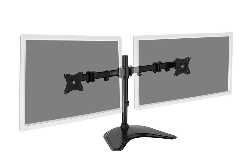 "Digitus 15-27"" Dual Monitor Stand with Desk Stand Base image"