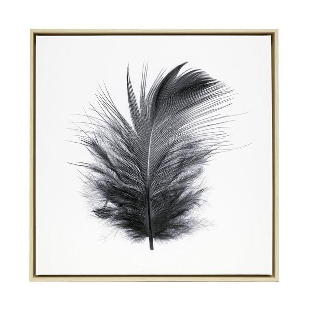 Splosh: Tranquil Feather Framed Canvas