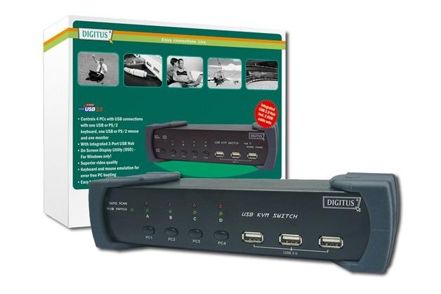 Digitus KVM USB 4 PC's