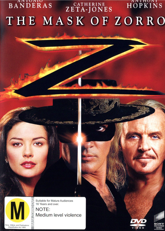 The Mask Of Zorro on DVD