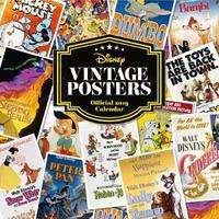 Disney Vintage Posters 2019 Square Wall Calendar