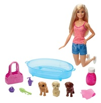 Barbie: Puppy Bath Time - Doll Playset