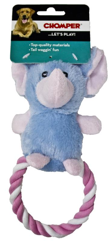 Chomper Puppy Plush Rope Ring Elephant