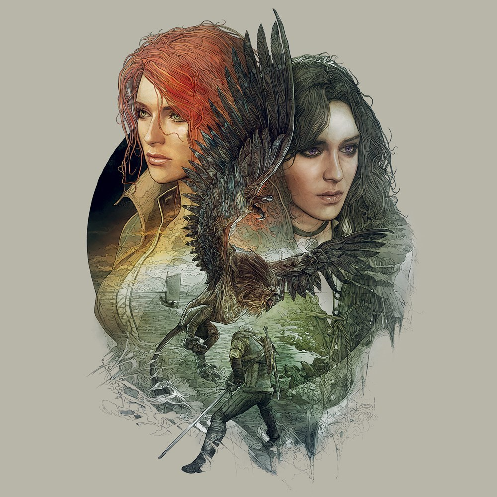 The Witcher 3 Yenni and Triss Women's Tee (2X-Large) image