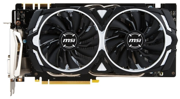 MSI GeForce GTX 1070 Armor OC 8GB OC Graphics Card