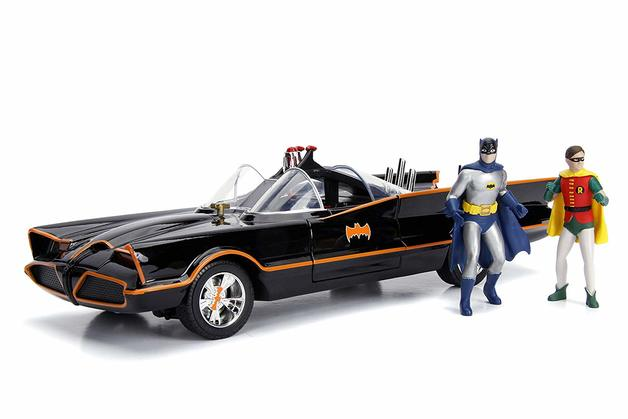 Jada 1/18 Batmobile - '66 Batmobile w/ Figures - Diecast Model