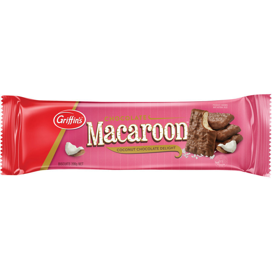 Griffins Chocolate Macaroons 200g (24 Pack) image