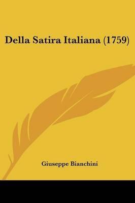 Della Satira Italiana (1759) by Giuseppe Bianchini image