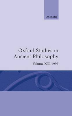 Oxford Studies in Ancient Philosophy: Volume XIII: 1995 image