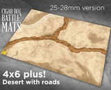 Cigar Box Mat: Desert with Roads 28mm (6x4 Plus)