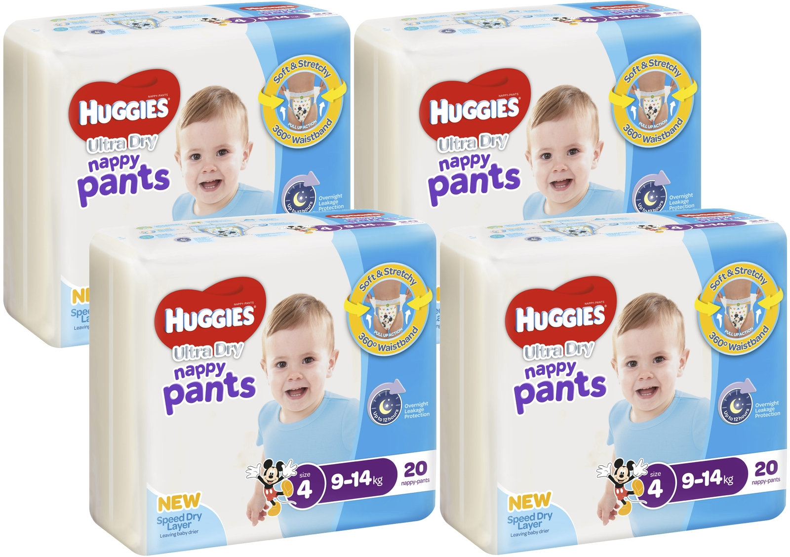 Huggies Ultra Dry Nappy Pants Convenience Value Box - Size 4 Boy 9-14 kg (80) image