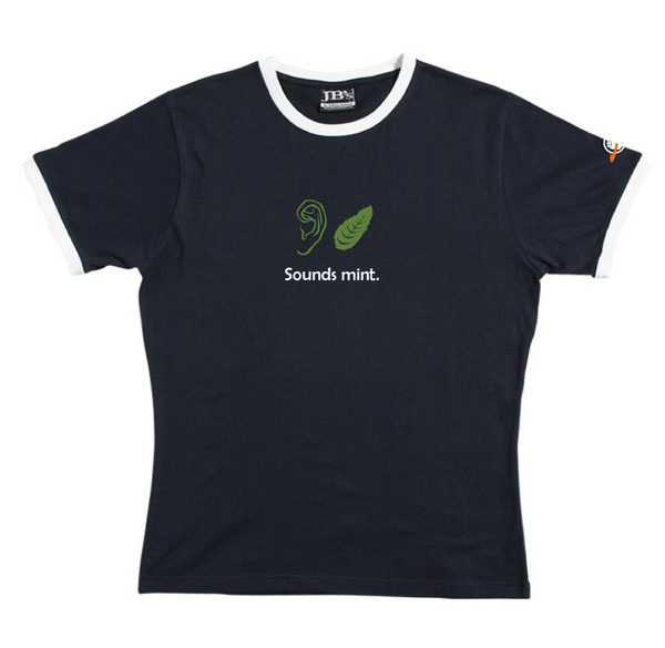 Sounds Mint - Ringer Tee (Navy) for