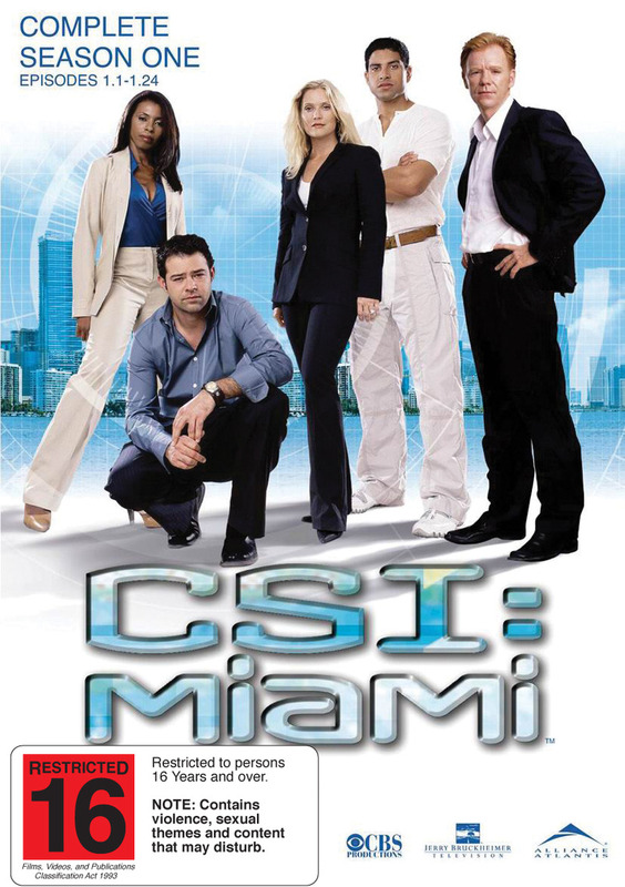 CSI - Miami: Complete Season 1 (6 Disc Set) on DVD