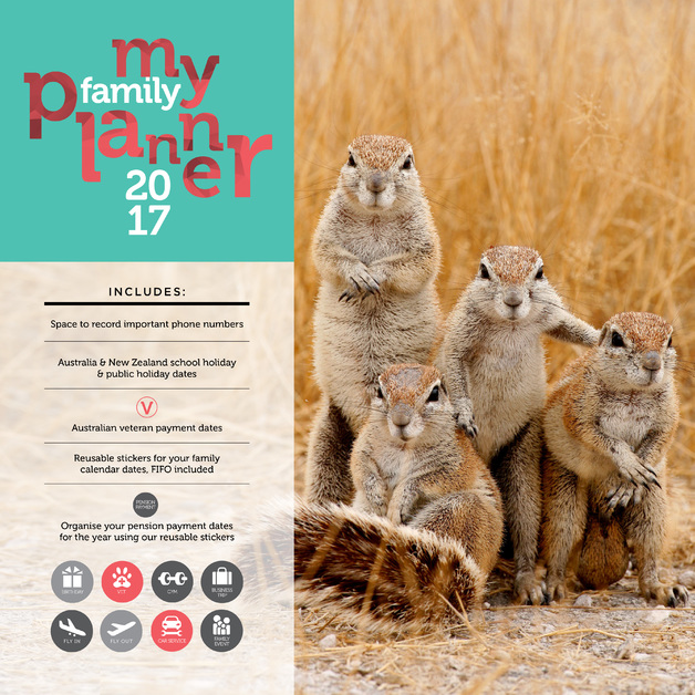 buy my family planner 2017 square wall calendar at mighty ape nz