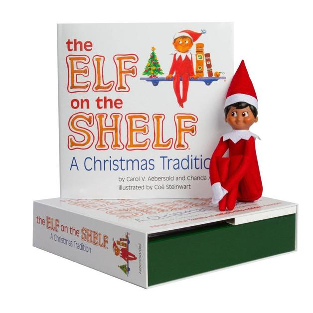 The Elf on the Shelf Boy Dark Doll with Book: A Christmas Tradition by Carol V Aebersold